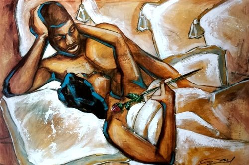 Gallery for black couple in love art
