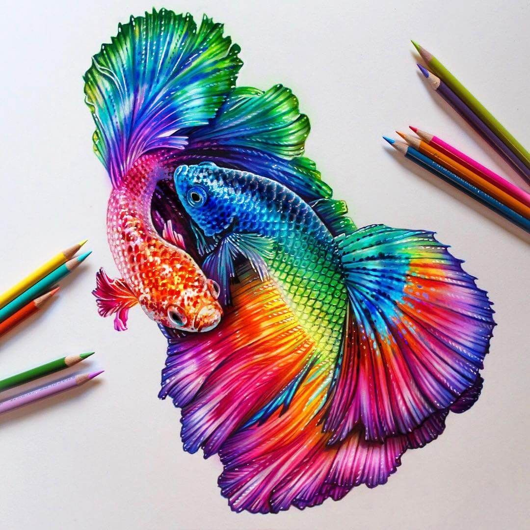 Glowing Colorful Drawings With Images Colorful Drawings