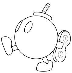 B Bomb Mario Google Search Mario Coloring Pages Coloring Pages Cool Coloring Pages