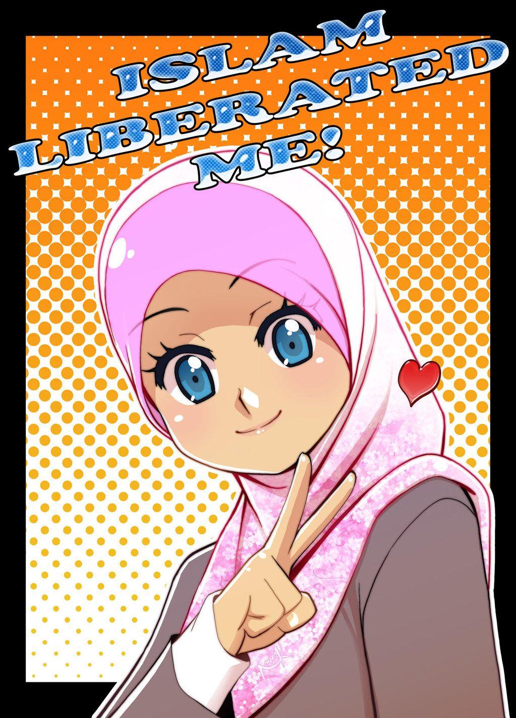Poster Like Share Dan Download Poster Poster Islamik Anime Muslim Anime Muslimah Hijab Cartoon