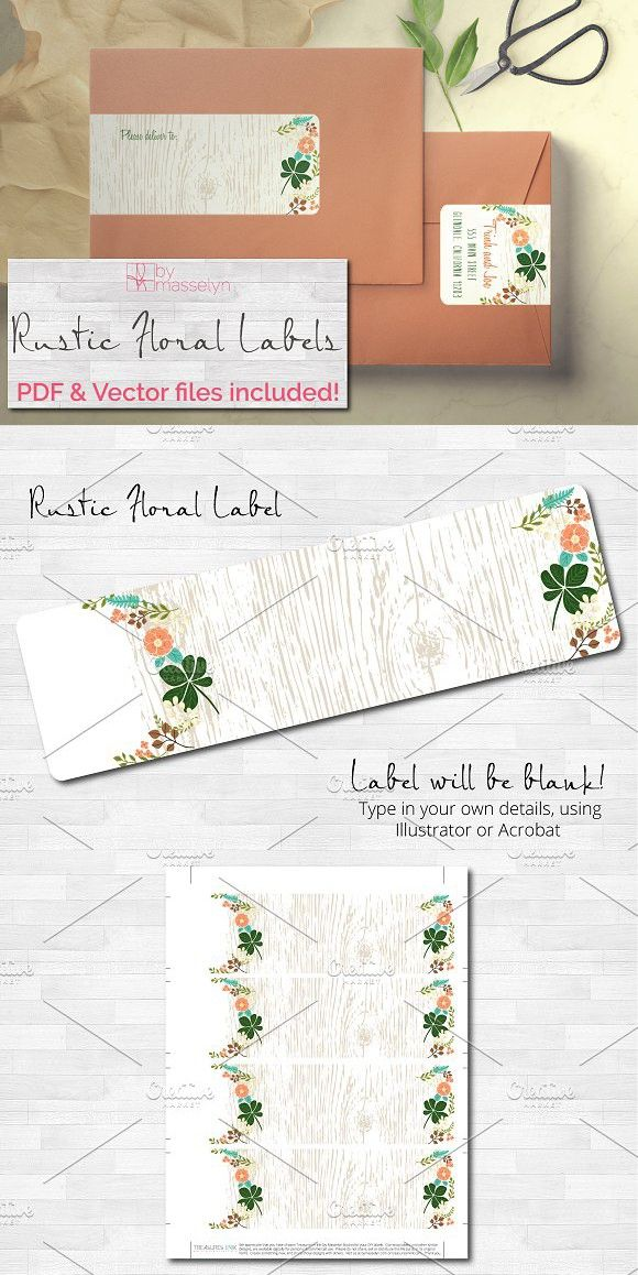 Rustic Floral Wrap Address Label Stationery Templates - address label templates