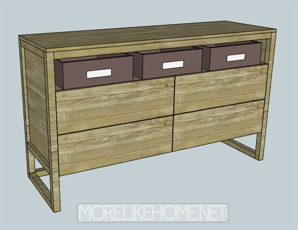 Dresser Drawer Plans 6 Although It Looks Like Eight Drawers This Actually Has Just And The Triple Equipment Free For