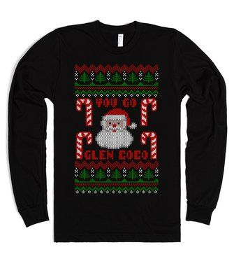 you go glen coco funny ugly christmas sweater t shirt