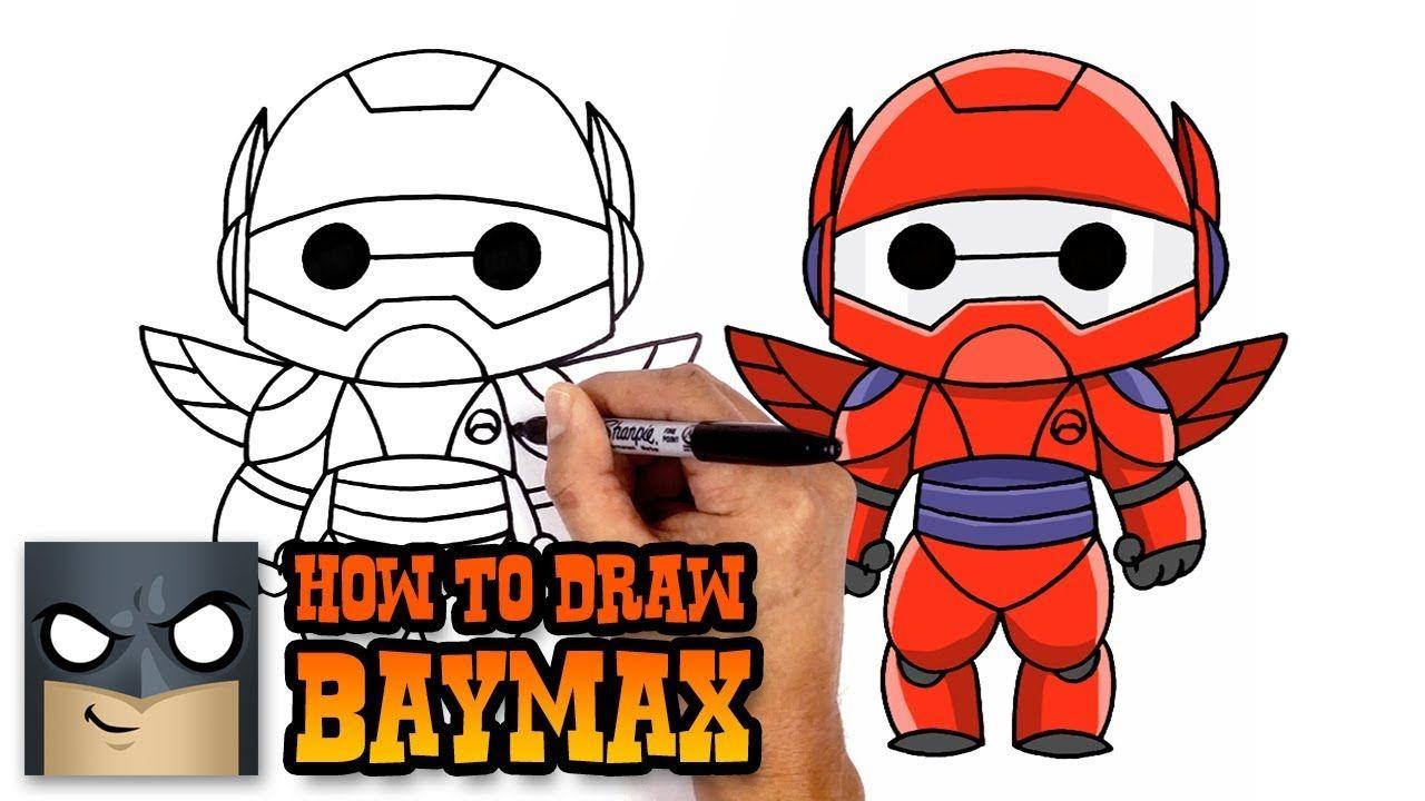 How To Draw Baymax Big Hero 6 Art Tutorial Easy Cartoon