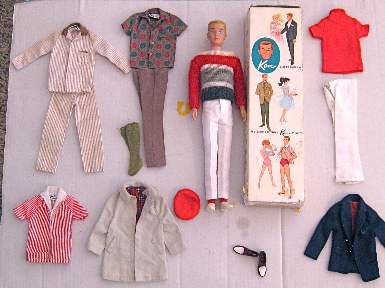 Ken Socks white cotton original vintage 60s Mattel