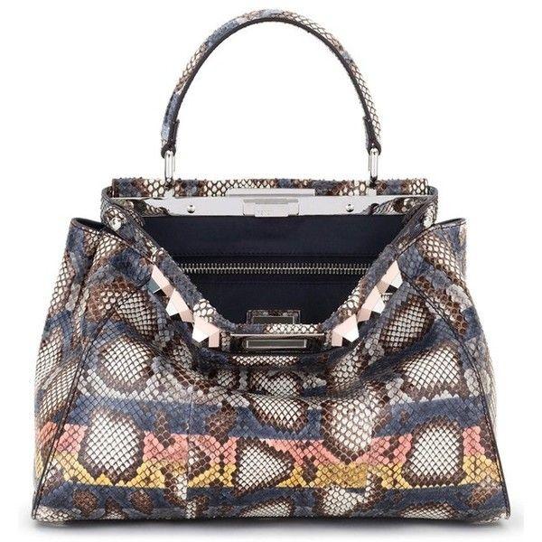 3d62156f7152 Women s Fendi Medium Peekaboo Genuine Python Crossbody Bag ( 9