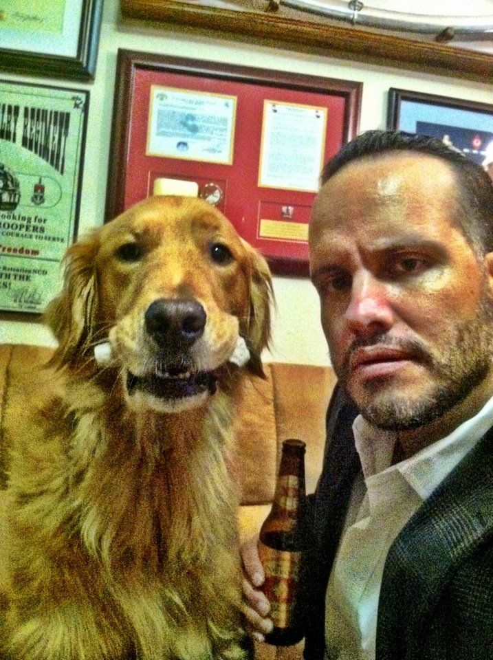 TUESDAY and Luis... the Most Interesting Dog and Man in