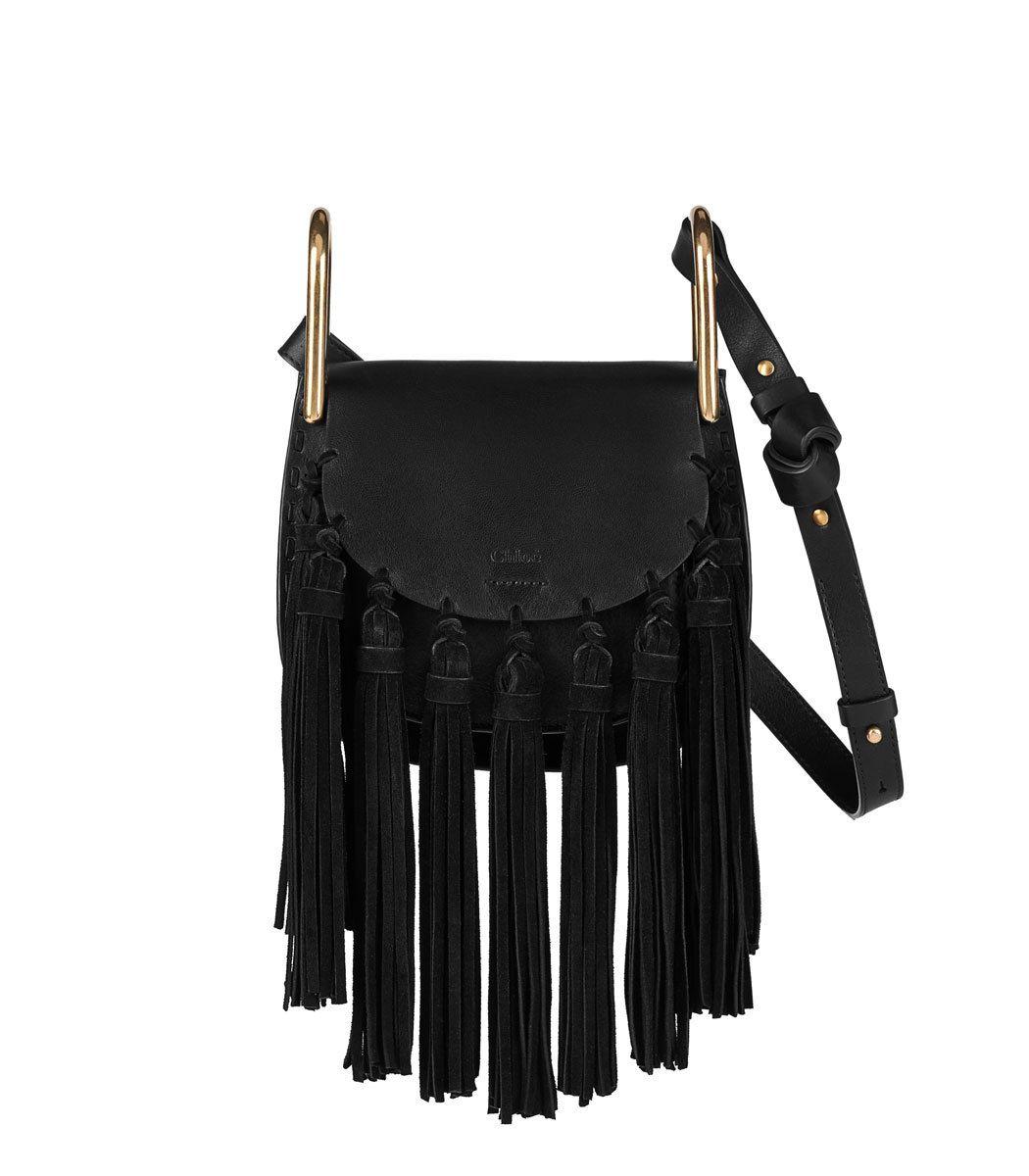 c223dd82b7 Chloe Mini Hudson Suede Tassel Bag | Bags | Black suede handbag ...