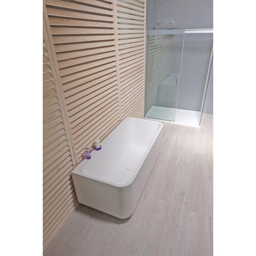 Shop Aquatica Sincera-Wht Wall Mounted AquaStone™ Bathtub at ATG ...