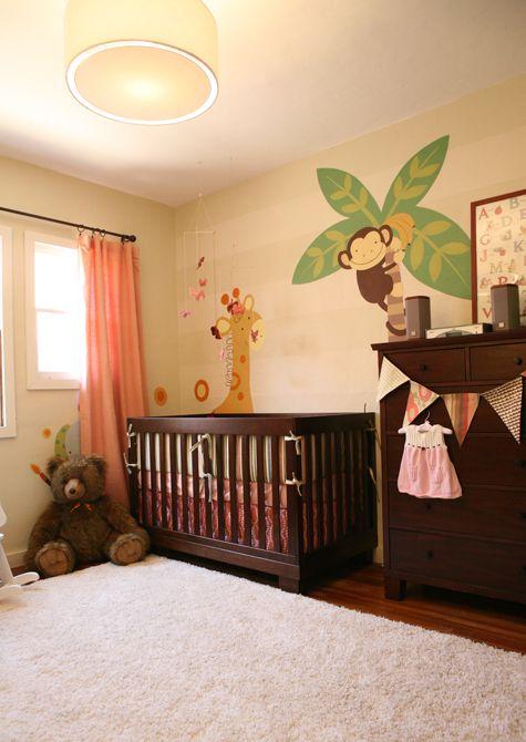 Jungle mural for baby\u0027s room nurseries Pinterest Como decorar