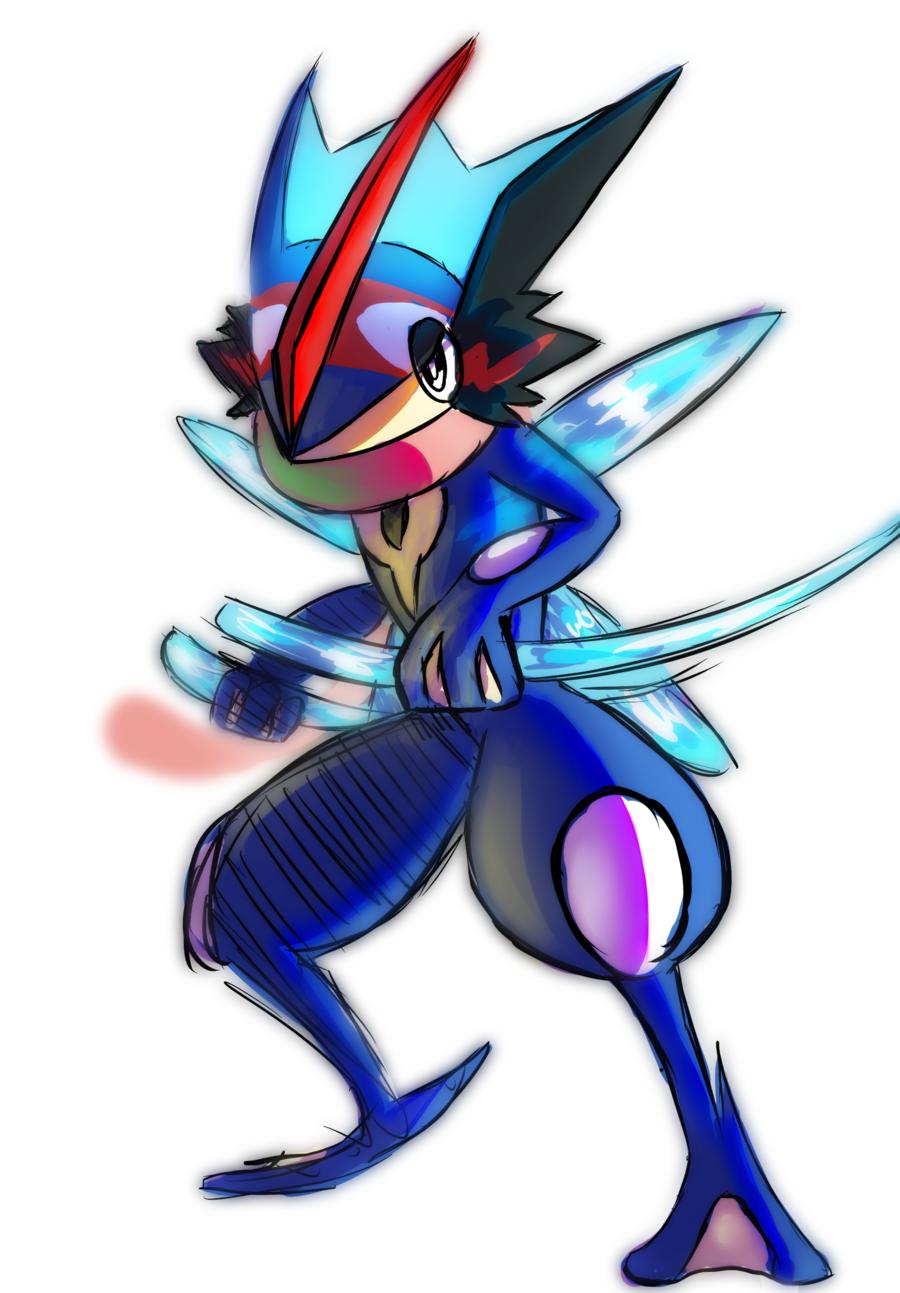 Ash S Greninja Colored Sketch By Thedarkgateway D99d0f8 Png 900 1293 Pokemon Kalos Pokemon Art