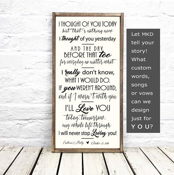 Song Lyric Wall Art Song Lyric Art Personalized Wedding Mkd Madikaydesigns Weddinggift Songlyric Weddingson Song Lyrics Art Wedding Song Lyrics Lyric Art