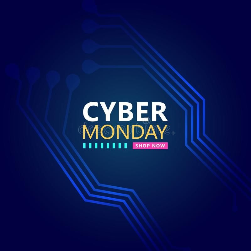 Cyber Monday Sale With Circuit Board Background Promotional Online Sale Event Affiliate Circuit Board Backgrou In 2020 Cyber Monday Sales Cyber Monday Cyber