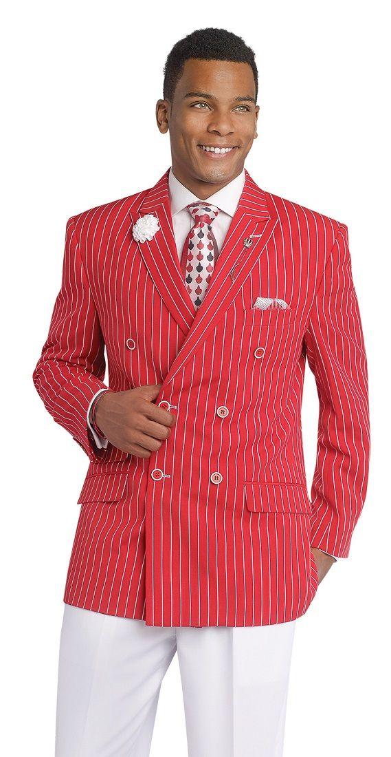 Red And White Pants Suit
