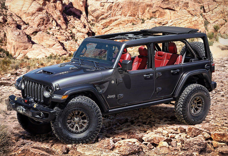 Jeep Wrangler Rubicon 392 Concept Packs A 450hp V8 Engine In 2020 Jeep Wrangler Rubicon Wrangler Rubicon New Jeep Wrangler