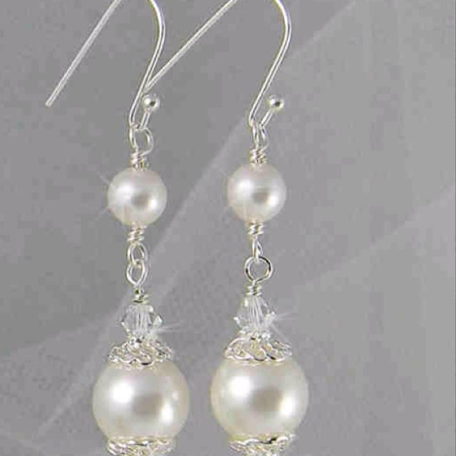 super simple classic pearls and crystals
