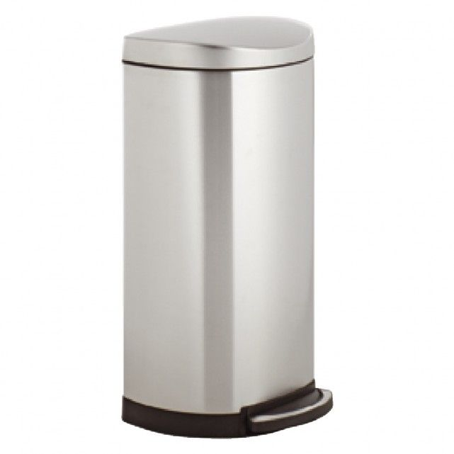 Simplehuman Stainless Steel Semi Round Pedal Kitchen Bin 30l
