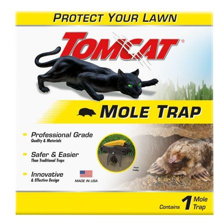 Tomcat Mole Trap, 1 Hands-Free Trap, Kills Moles Without Drawing Blood, Multicolor