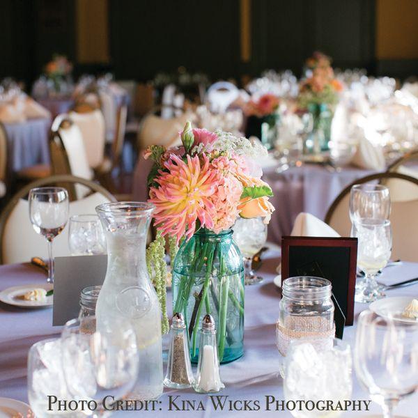 Mason jar wedding flowers by lifeinbloomchicago photography mason jar wedding flowers by lifeinbloomchicago photography by kina wicks solutioingenieria Images