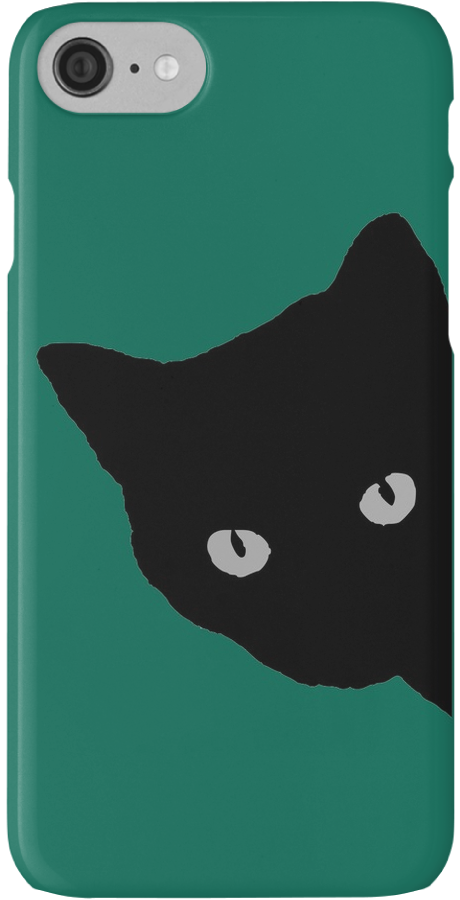Girls Case Cute Cat Illustration