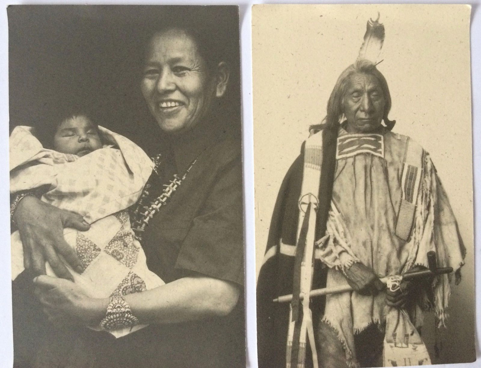 Set 2 native american navajo indian portrait photograph postcards set 2 native american navajo indian portrait photograph postcards red cloud 1898 ebay kristyandbryce Choice Image