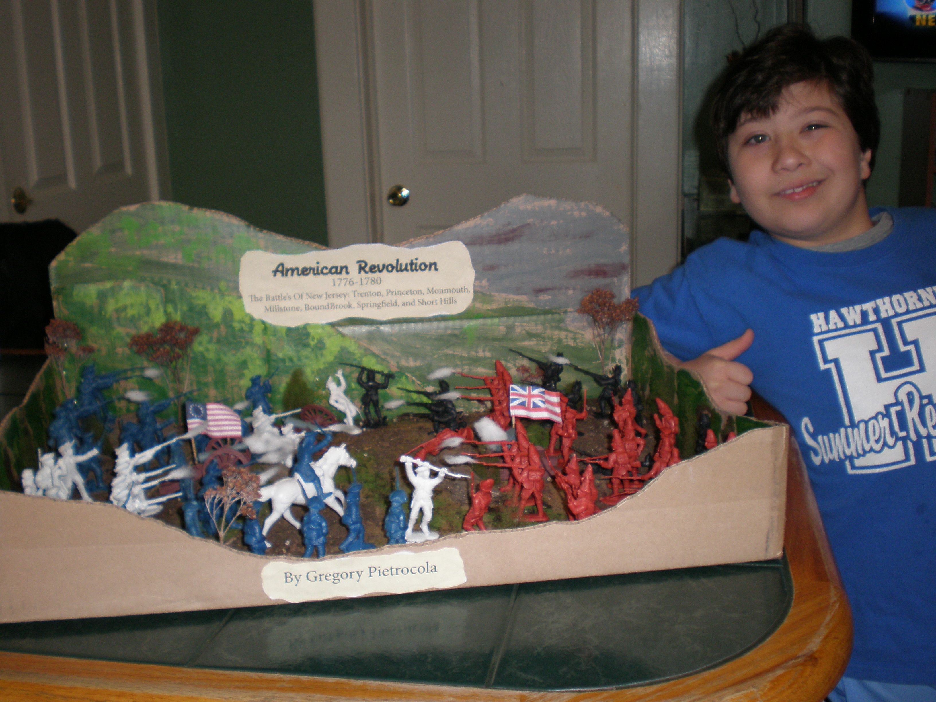 My Son S Diorama Of The Revolutionary War