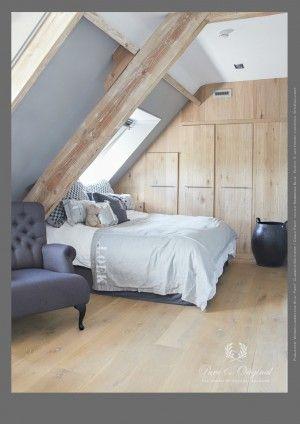 Stoere slaapkamer in de krijtverf. Kleuren Barbados Blue met Silk ...