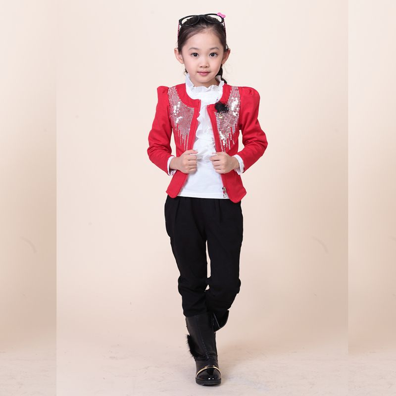 Click to Buy << 2016 new arrival girls formal pant suits clothing ...