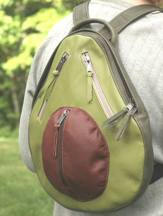 avocado backpack! @Morgan Pommrehn-Jass lol seriously who knew there was so much avocado stuff...whats wrong with ppl?