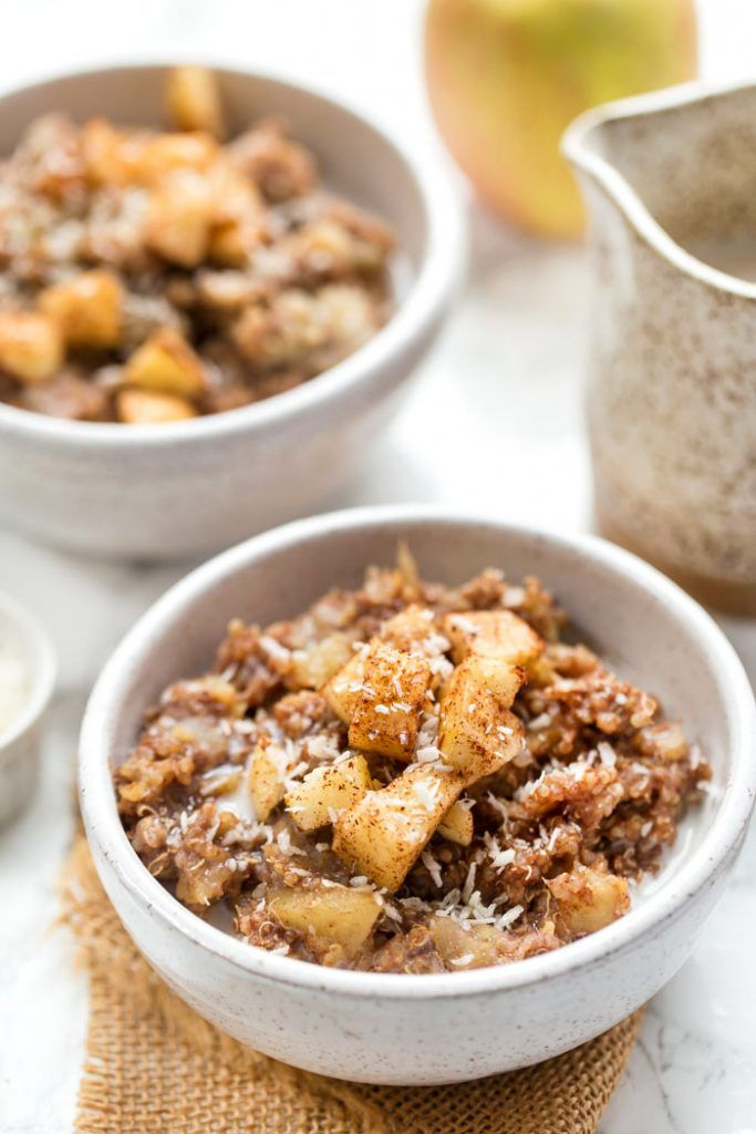 Photo of Cinnamon Apple Breakfast Quinoa – Simply Quinoa