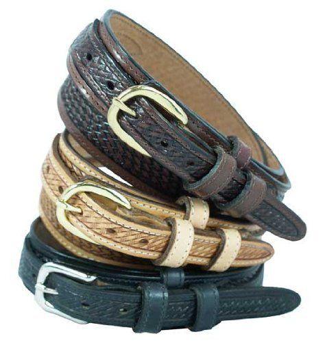 """Men's Ranger Belt 1 1/4"""" Basketweave pattern ranger style belt. Black, Size 34 Yourtack. $34.95"""