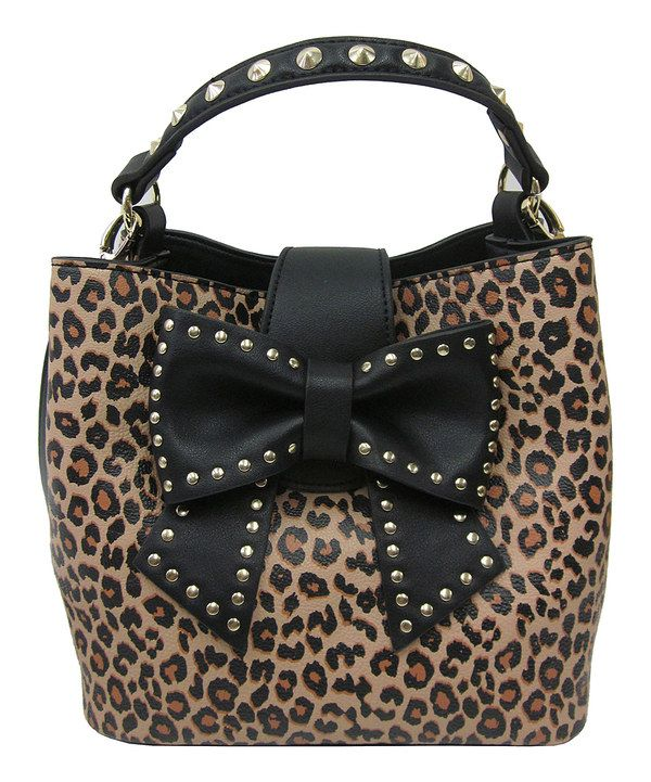Look At This Betsey Johnson Leopard Bow Hopeless Bucket Bag On Zulily Today