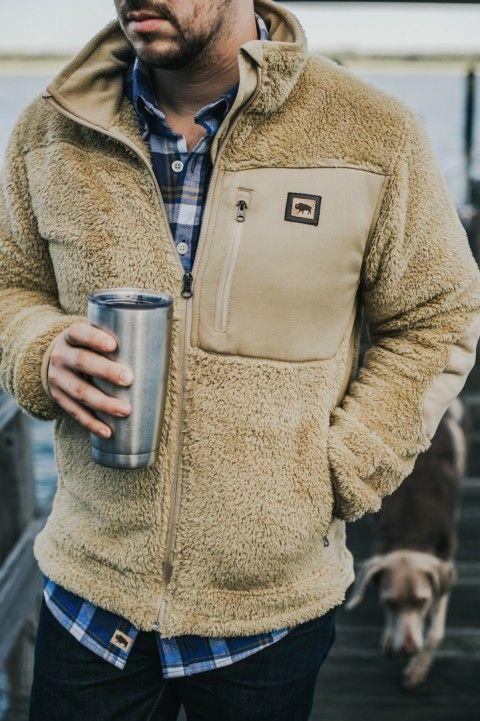Kodiak Fleece Jacket | Grizzly Tan | Mens fleece jacket, Mens jackets, Mens  fashion rugged