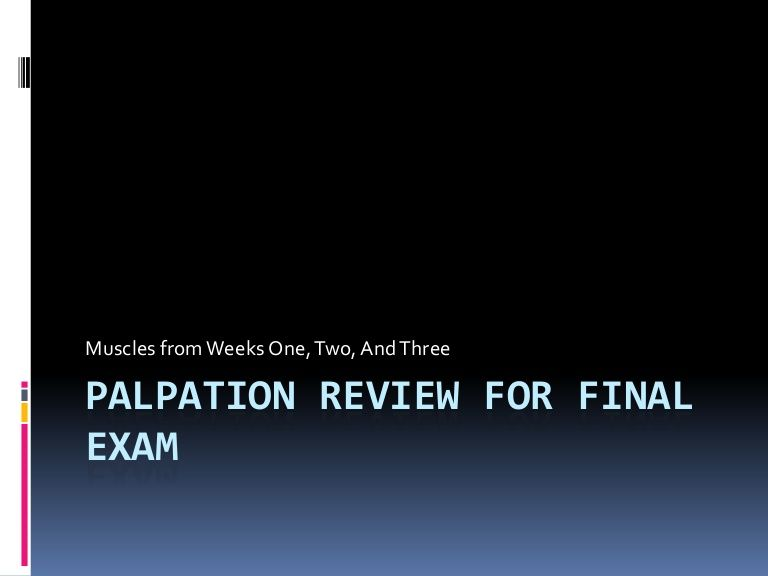 Palpation Review For Final Exam Final exams, Finals