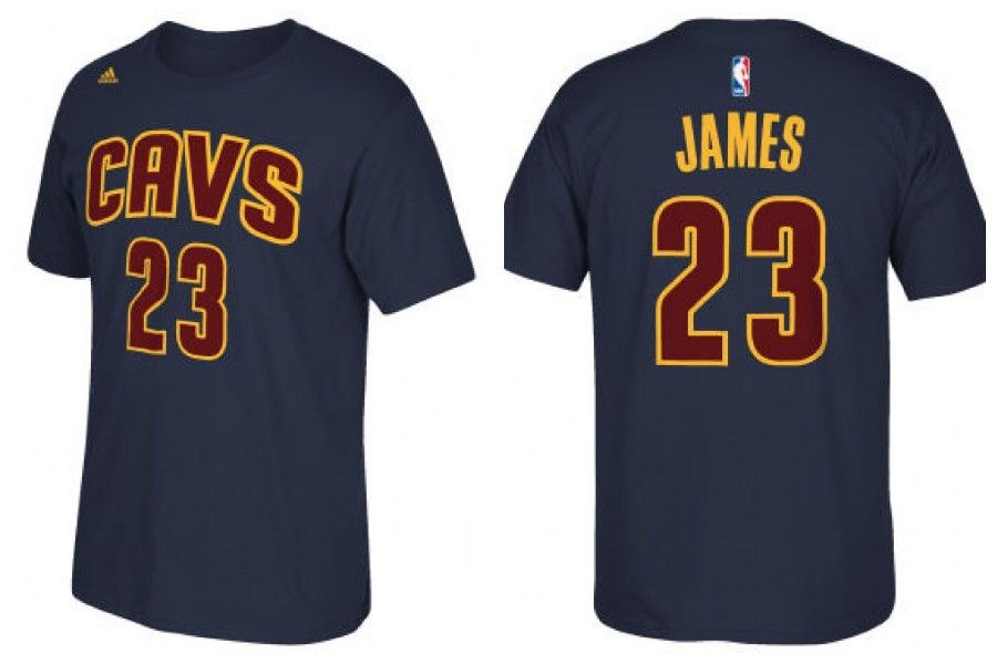 823cee80df1 Lebron James the Return Cleveland Cavaliers official navy jersey name and  number t-