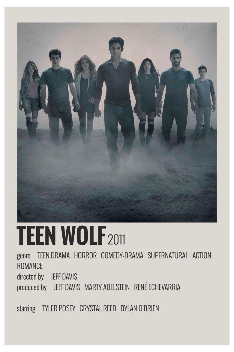 minimalist polaroid film posters teen wolf