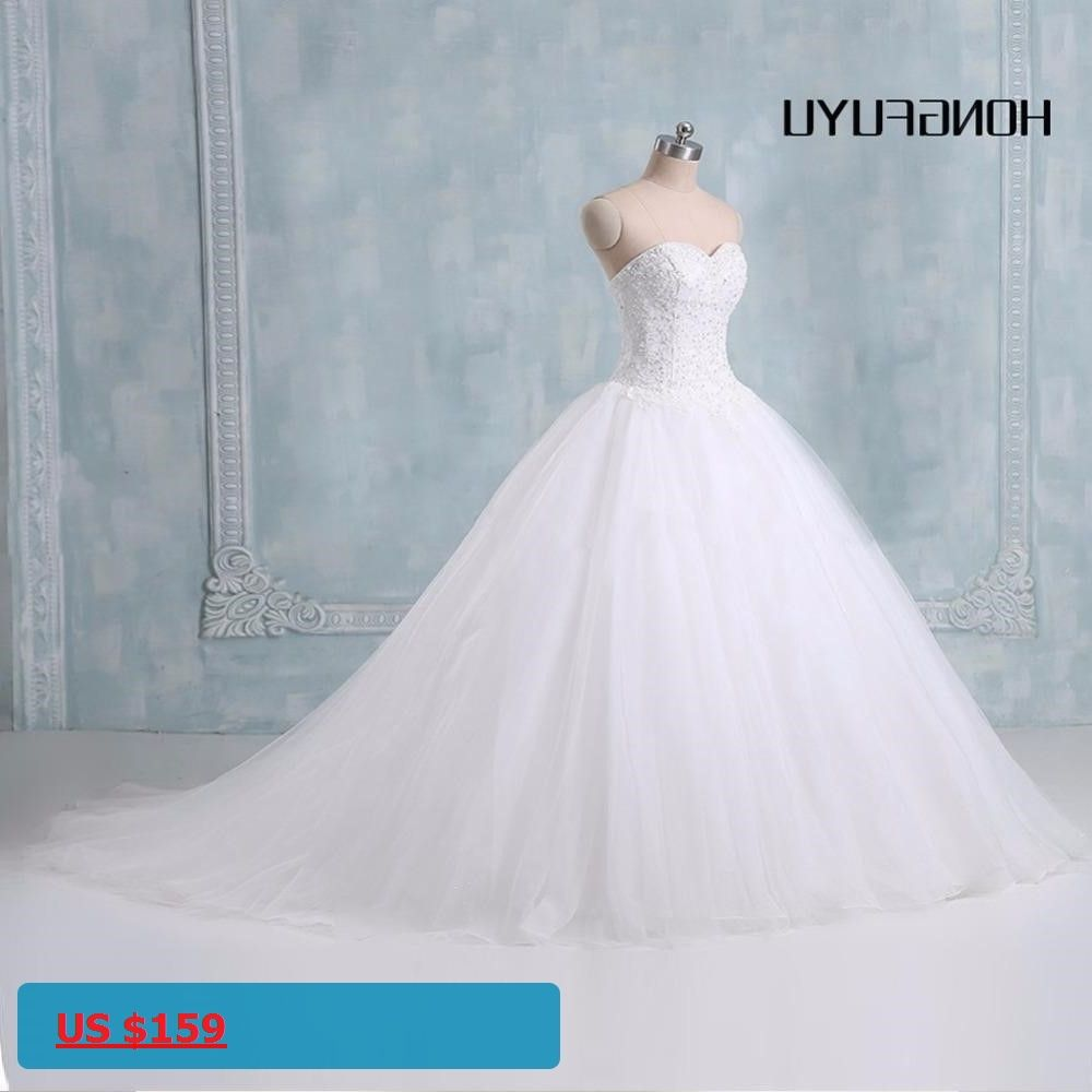 Ball Gown White/ivory Wedding Dresses 2017 New Actual Image ...