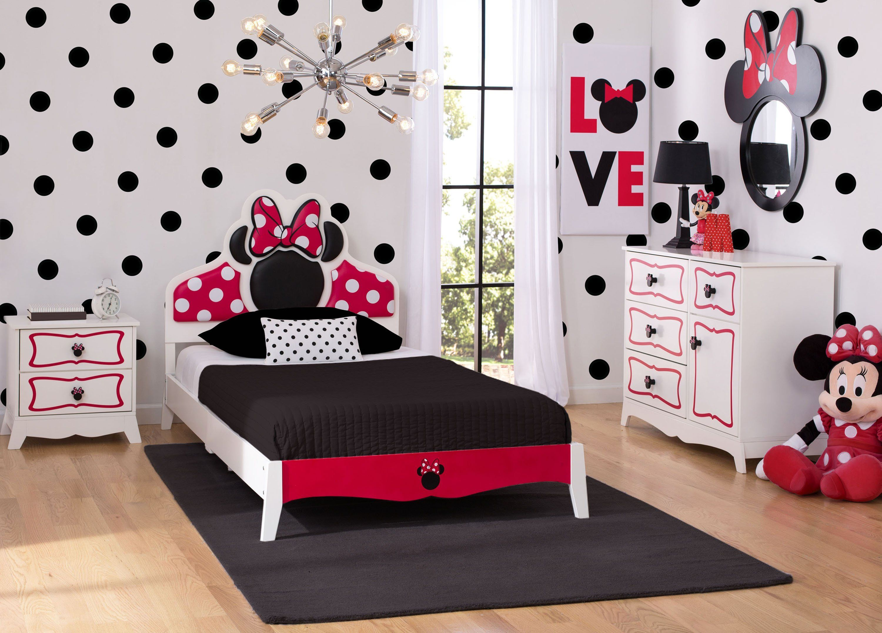Minnie Mouse Wooden Twin Bedroom Collection