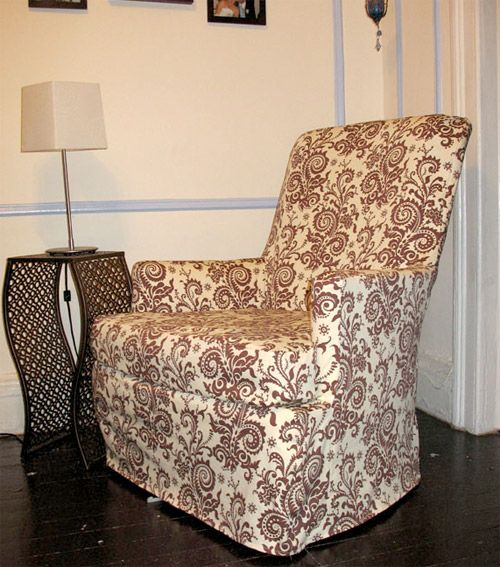 Make Your Own Chair Covers: How To: Slipcover A Reading Chair