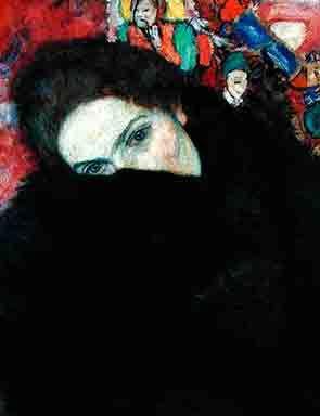 Gustav Klimt,  Lady with a Muff 1916–17