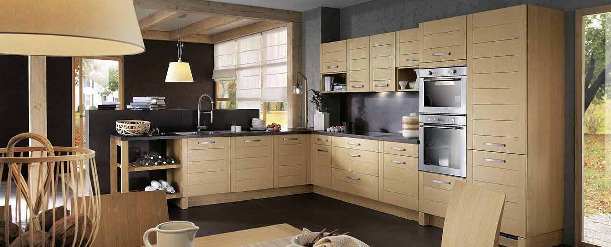 mod les de cuisines d co maison jardin mobalpa cuisine quip e moderne et chene blanchi. Black Bedroom Furniture Sets. Home Design Ideas