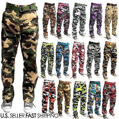 acf83e3ce7 MEN MILITARY ARMY CAMOFLAUGE CAMO CARGO PANT COMBAT CARGO PANTS DIFFERENT  COLOR