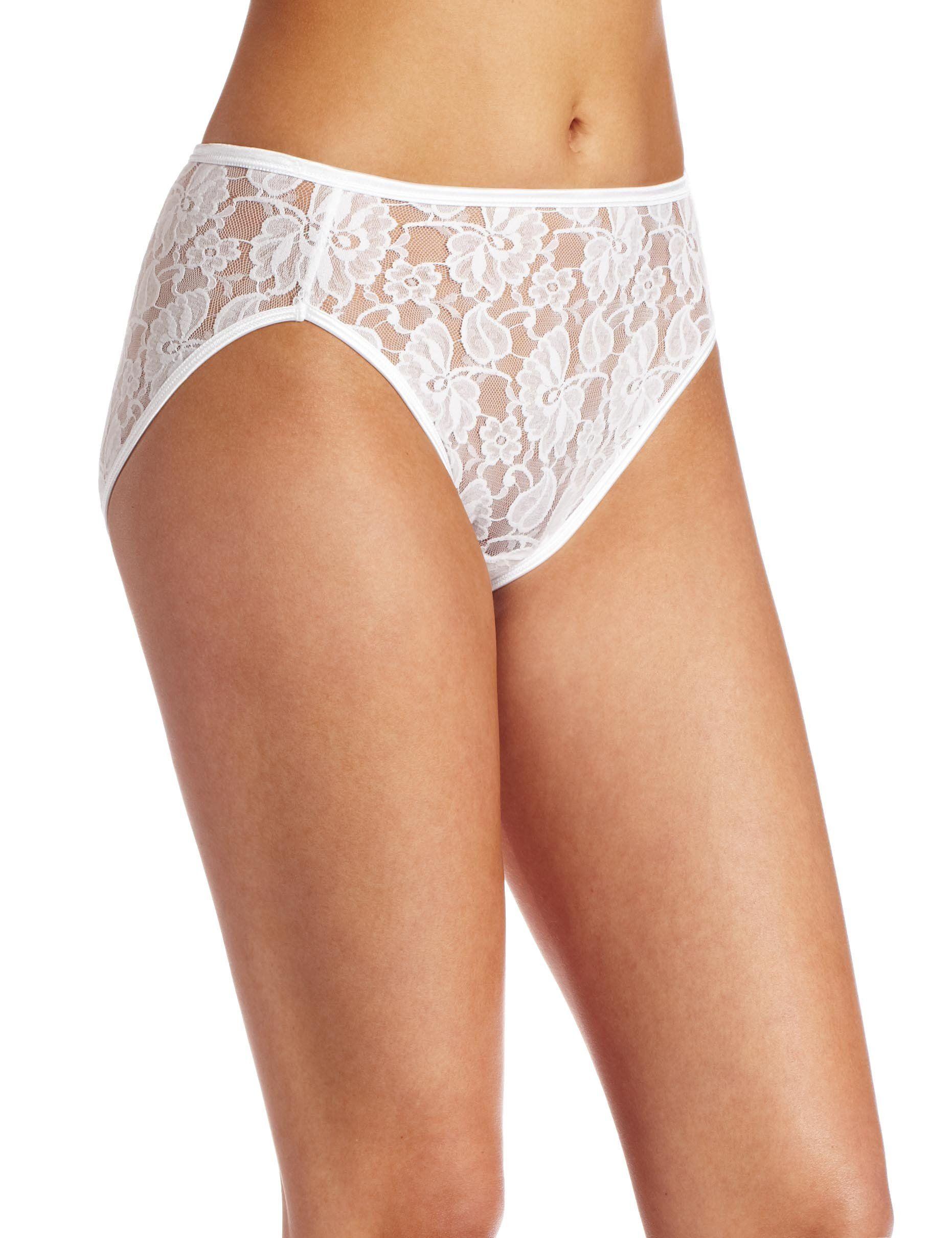 Vanity Fair Womens Illumination Helenca Lace Hi Cut Panty