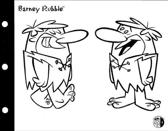 Barney Rubble Art Cartoon Design Vintage Cartoon Old Cartoons