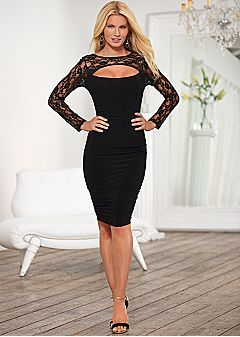 be71368ba5 Lengthen a Petite Figure With Dresses from the VENUS Dress Fit Guide ...