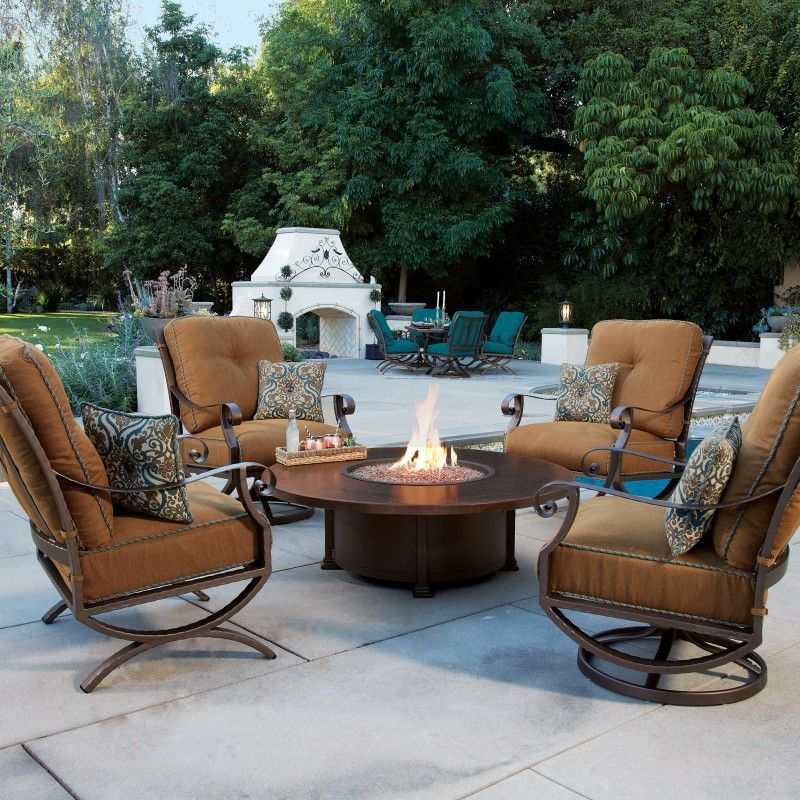 Luna Firepit Collection Iron The Great Escape Patio Wrought