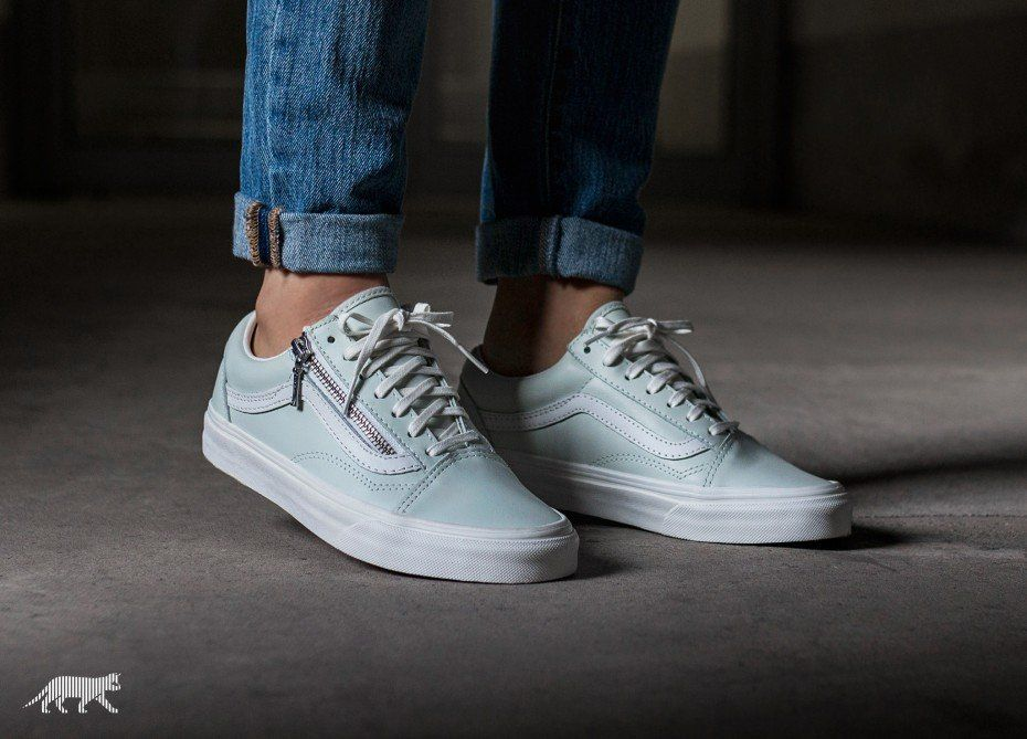 c50133e3bc Vans Old Skool Zip *Leather* (Zephyr Blue / Blanc de Blanc ...