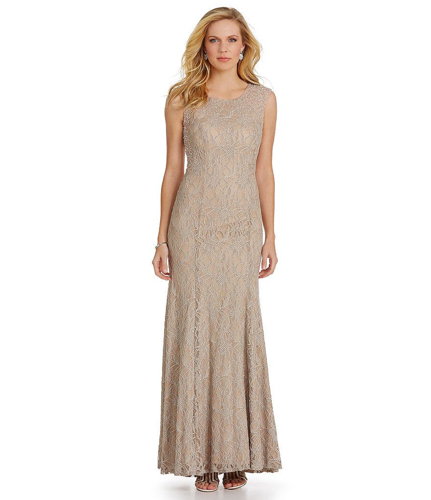 Cachet Illusion-Back Glitter Lace Gown   Mother-of-the-Bride   Pinterest