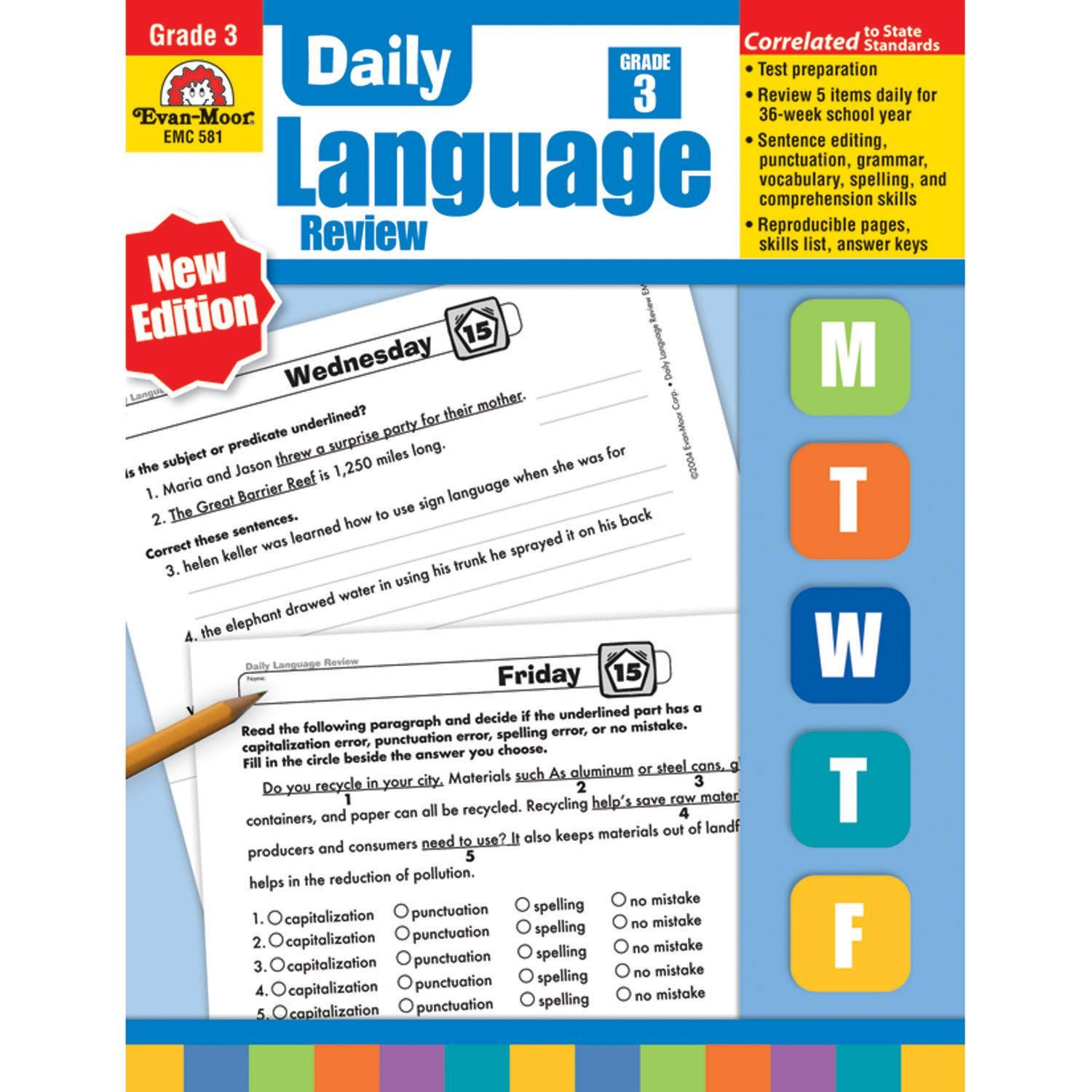 Bestseller: Daily Language Review Grade 5 Answer Key Week 14