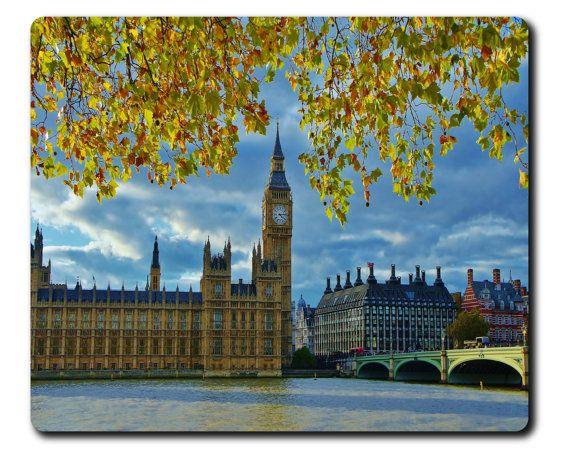 London Big Ben Tower Computer Mouse Pad By Beautifuldigitalprin Big Ben London Photography England Photography